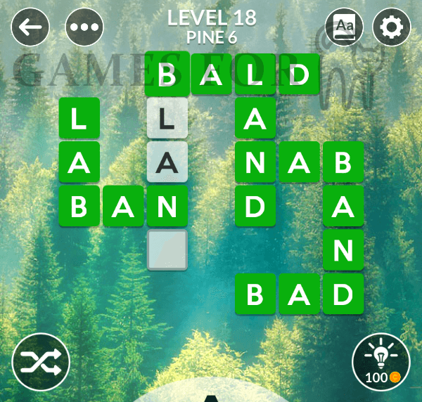 Wordscapes Level 18 Answers ( All modes )
