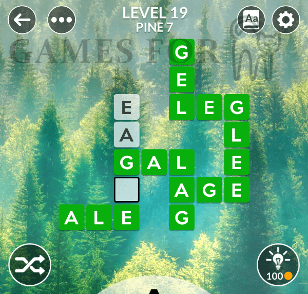 Wordscapes Level 19 Answers ( All modes )