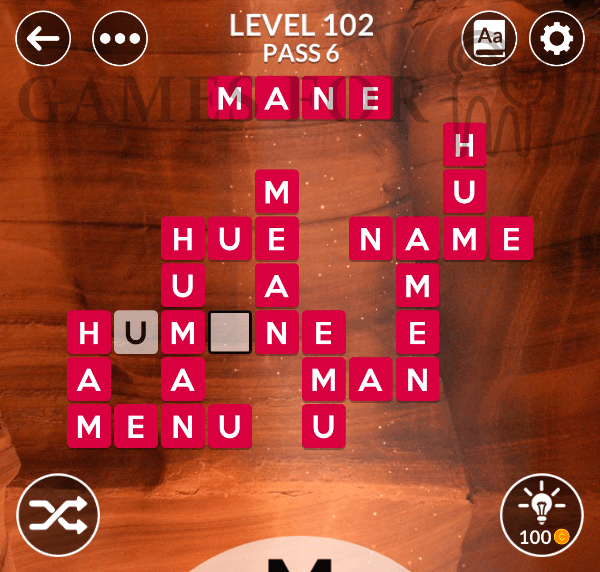 Wordscapes Level 102 Answers All Modes Games For Cats