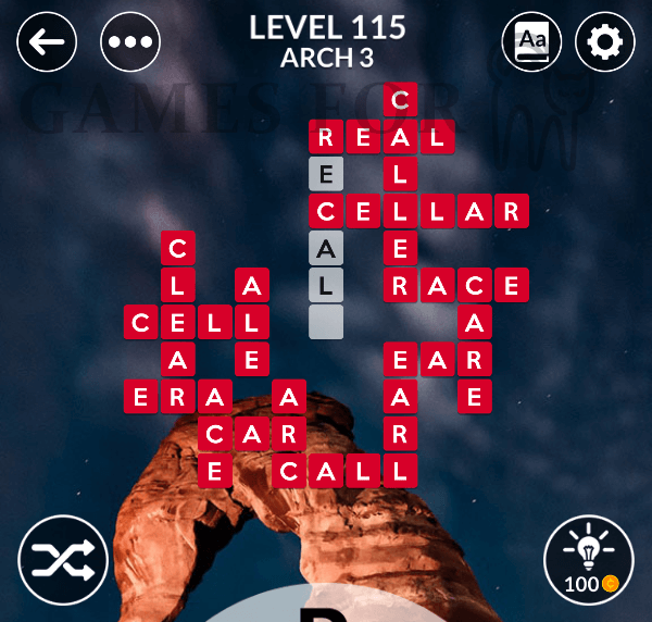 Wordscapes Level 115 Answers All Modes Games For Cats