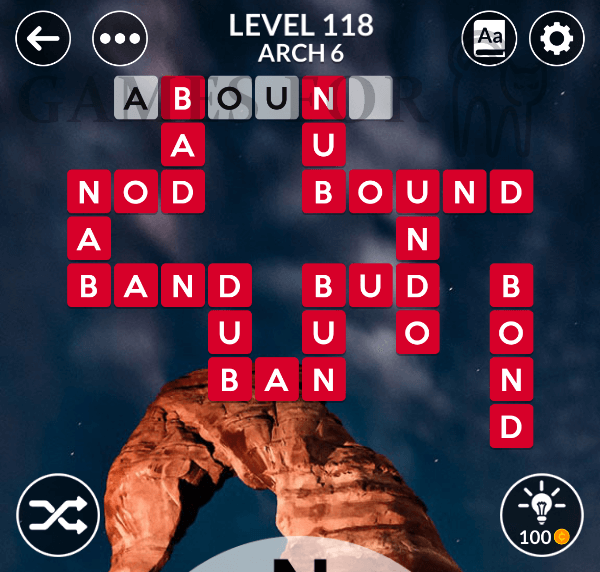 Wordscapes Level 118 Answers All Modes Games For Cats