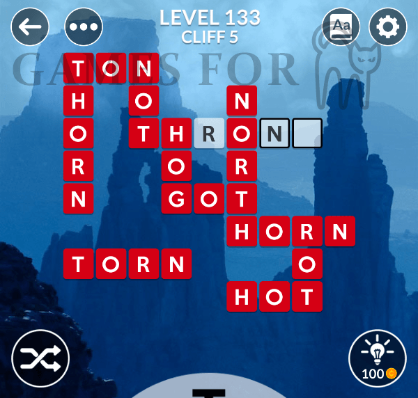 Wordscapes Level 133 Answers All Modes Games For Cats