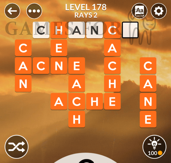 Wordscapes Level 178 Answers All Modes Games For Cats