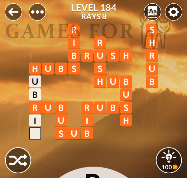 Wordscapes Level 184 Answers All Modes Games For Cats
