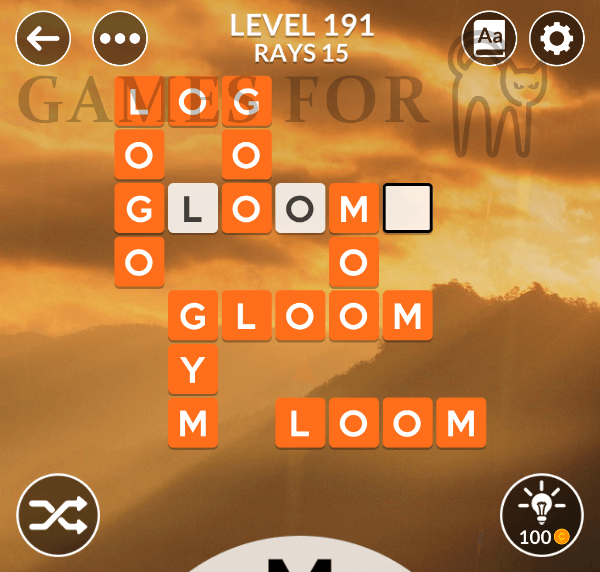 Wordscapes Level 191 Answers All Modes Games For Cats