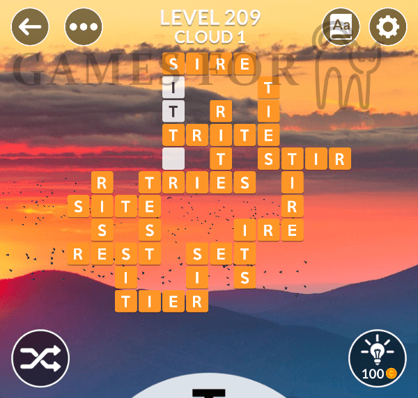 Wordscapes Level 209 Answers All Modes Games For Cats