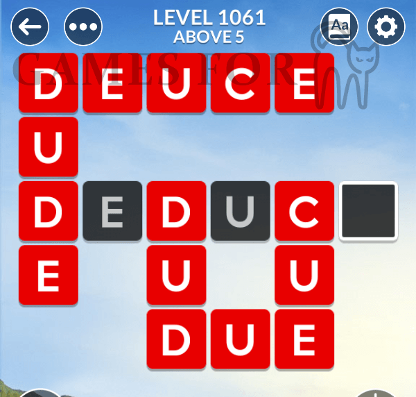 Wordscapes Level 1061 Answers