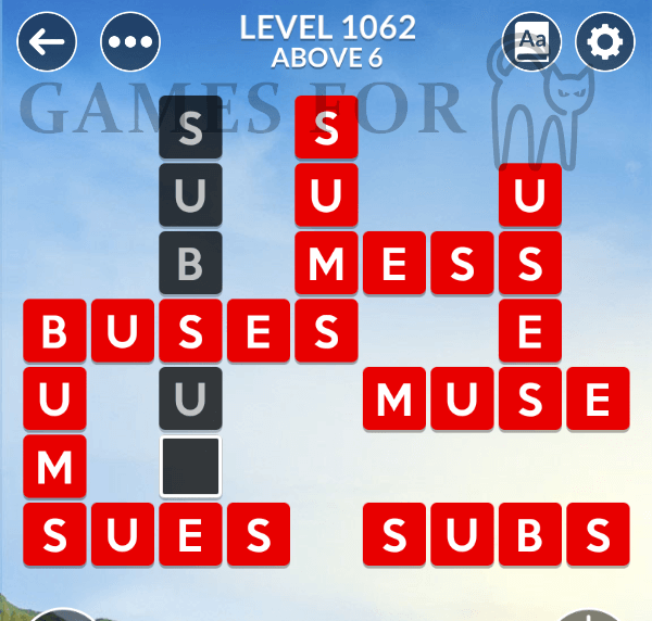 Wordscapes Level 1062 Answers