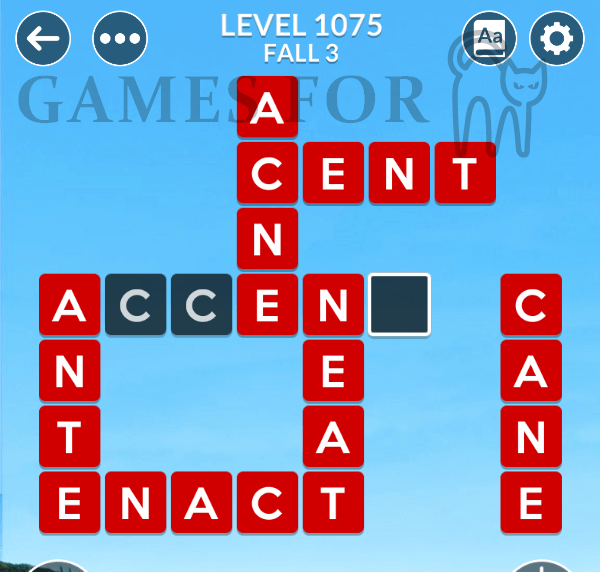Wordscapes Level 1075 Answers