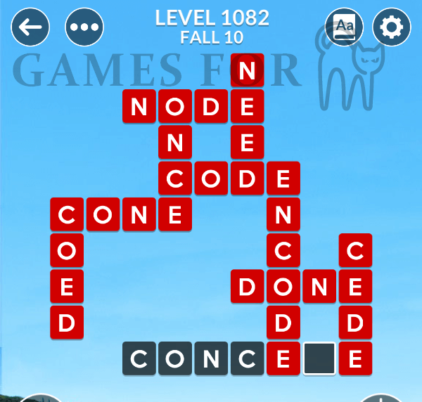 Wordscapes Level 1082 Answers
