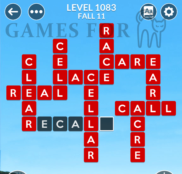 Wordscapes Level 1083 Answers