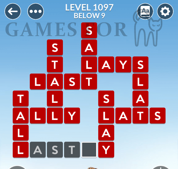 Wordscapes Level 1097 Answers