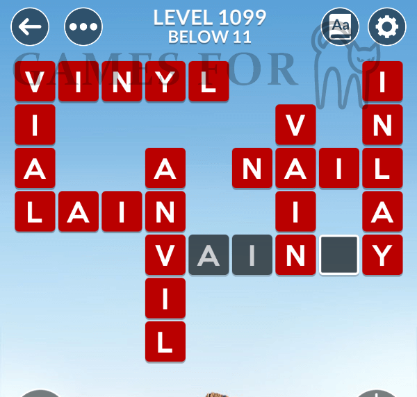 Wordscapes Level 1099 Answers