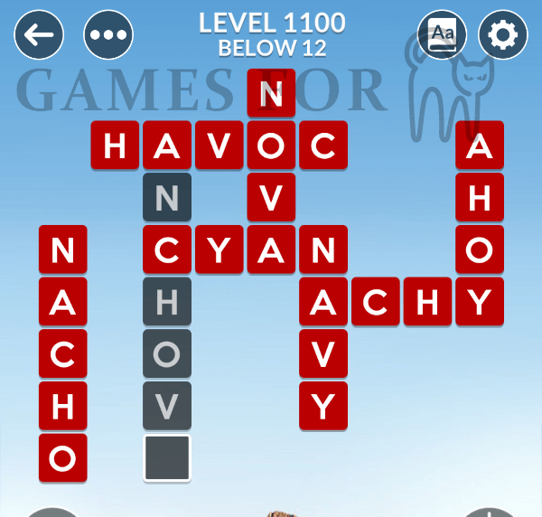 Wordscapes Level 1100 Answers
