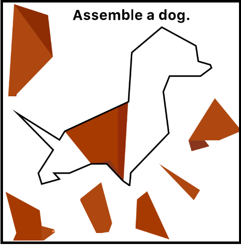 Easy Game Assemble a dog